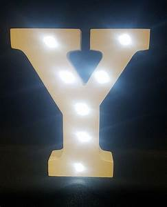 buy wooden led light up letter white y from chair cover With white light up letters