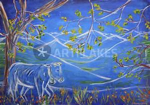 Blaue Kuh Magdeburg : von den blauen bergen malerei als poster und ~ Watch28wear.com Haus und Dekorationen