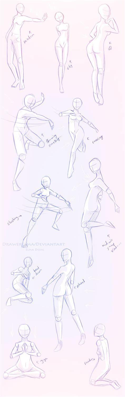 draw  human body study female poses  comic