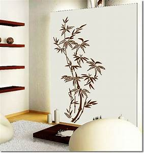 Japanese traditional bamboo wall art decor wall stickers for Bamboo wall art