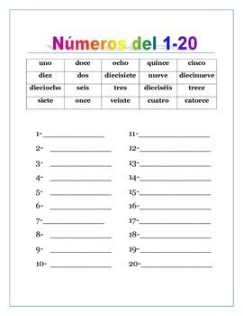 spanish numbers from 0 to 100 thousands writing