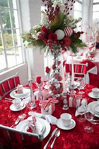 table decorations for christmas 34 Gorgeous Christmas Tablescapes And Centerpiece Ideas — Style Estate