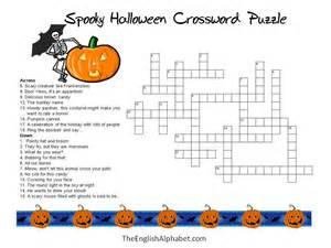 Halloween Mad Libs Online by 5 Best Images Of Halloween Crossword Puzzles Printable