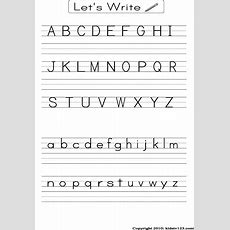 Free Printable Alphabet Worksheets, Preschool Writing And Pattern Worksheets To Print F… Doing