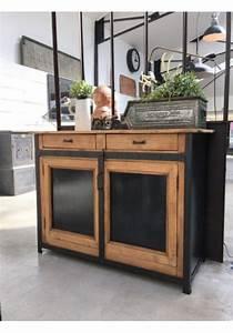 les 25 meilleures idees de la categorie buffet industriel With rajeunir un meuble ancien