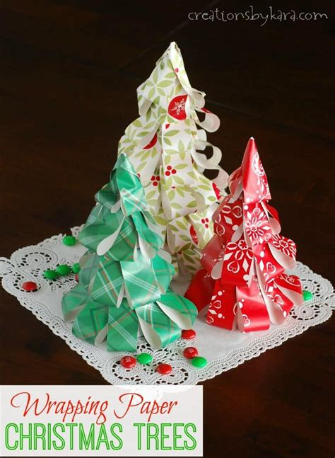 easy christmas trees how to make wrapping paper trees