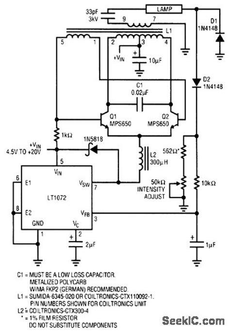 hollow cathode l power supply gt circuits gt cold cathode fluorescent l ccfl power
