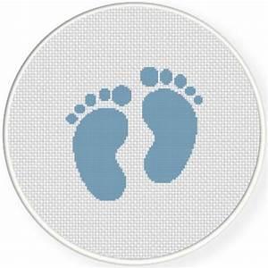 Baby Feet Size Chart Baby Feet Cross Stitch Pattern Daily Cross Stitch