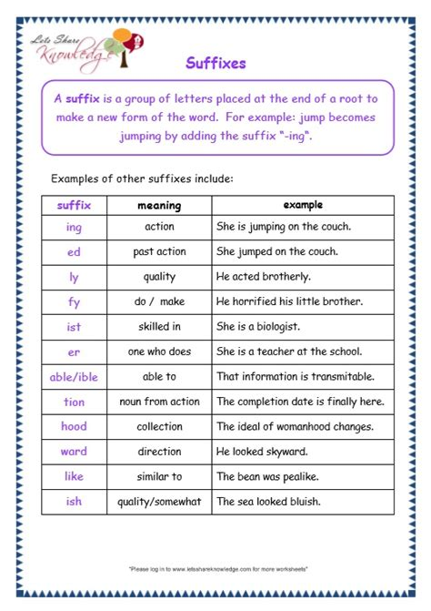 all worksheets 187 suffix worksheets for grade 2 printable