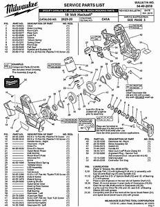 Milwaukee 2625-20 C41a Parts