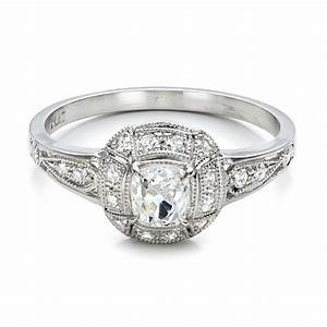 estate diamond engagement ring 100906 With estate wedding rings