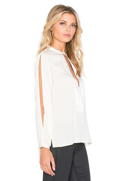 mandarin collar blouse mandarin collar blouse in white lyst