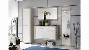 Garderobe Sonoma Eiche Weiß : garderobe crema set 4 teilig in sonoma eiche s gerau und wei ~ Bigdaddyawards.com Haus und Dekorationen
