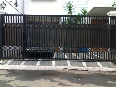 desain pagar rumah minimalis modern sederhana gambar