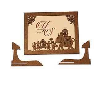 wedding card  laser cut photo frame style   baraat