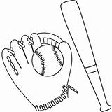Baseball Bat Drawing Ball Glove Coloring Mitt Outline Pages Getdrawings Template Printable Sketch Regard Personal Clipart Getcolorings Mit Sheet Hat sketch template