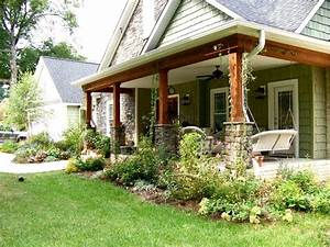 Back Porch Designs Ranch Style Homes Decorating Small