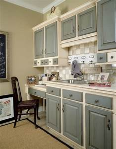 two tone painted kitchen cabinets 2000