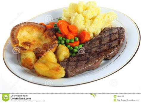 a meal steak dinner isolated stock photo image of english mixed 15540322