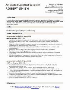 Navy Logistics Specialist Resume Navy Logistics Specialist Resume May 2020