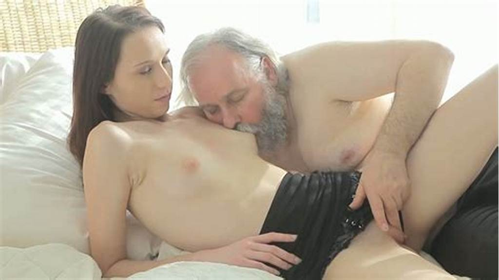 #Bearded #Grandpa #Polishes #Yummy #Teen #Pussy #With #Passion