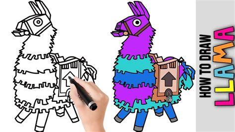draw llama fortnite cute easy drawing tutorials