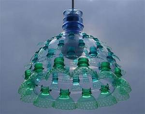 Upcycled plastic bottle creations by Veronika Richterová