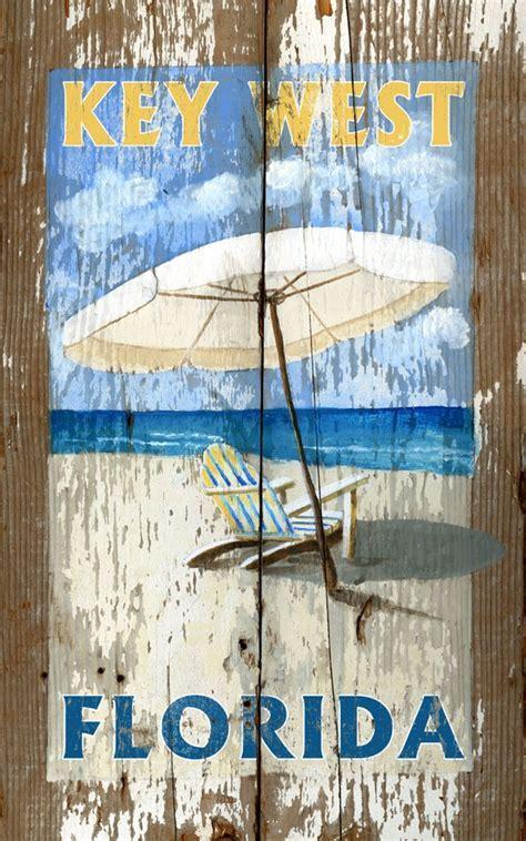 Umbrella Key West, FL   Vintage Beach Sign