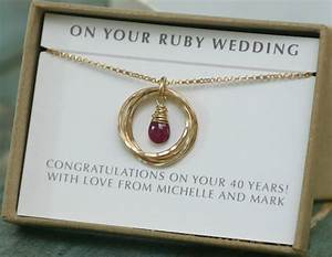 ruby wedding gift 40th anniversary gift ruby anniversary With gift for wedding anniversary