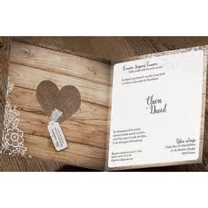 faire part mariage romantique chic bois fleurs dentelle belarto 726003 mesfairepart - Faire Part Mariage Dentelle