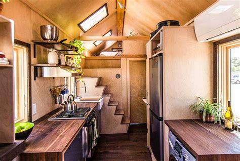 tiny house trailer home  bedroom loft  tumbleweed