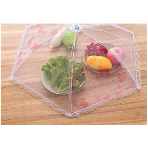 outdoor food covers folding prevent fly insect net dish