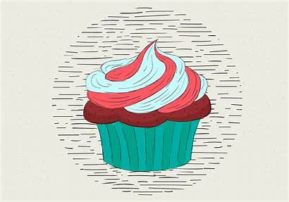 Muffin Illustration Hand Vector Drawn Vecteezy Clipart