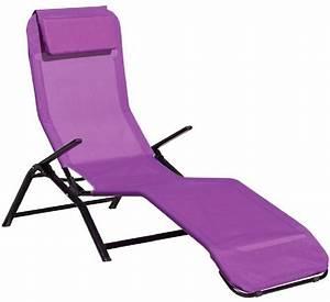 Table De Jardin Pliante Castorama #2 Chaise Longue Gifi Et Bain De Soleil Pas Cher Violet Ou
