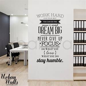 Work hard offices and inspirational