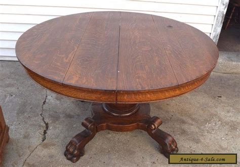 vintage claw foot table antique victorian round dining solid wood table with claw