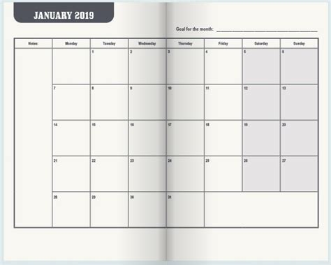 pocket appointment calendar mjc