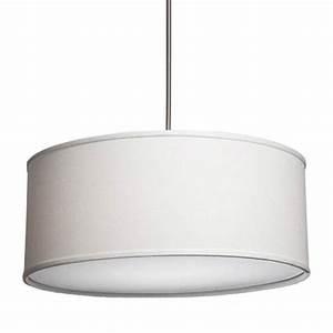Drum pendant lighting white : Drum pendant lighting shade lights bellacor