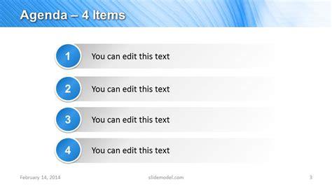 items agenda  design  powerpoint slidemodel