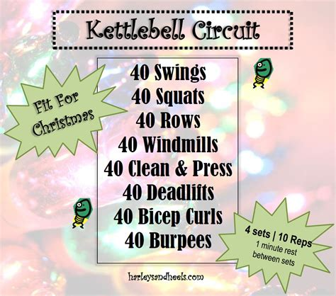 kettlebell circuit christmas holiday turbo kick special disaster appropriate burpees ya needed exercise weight follow each would