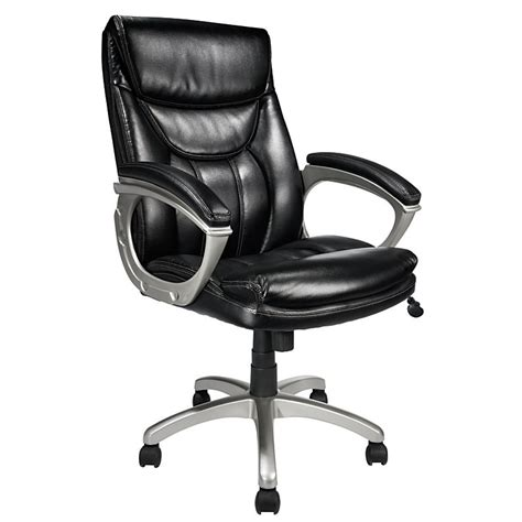 realspace ec 600 executive high back chair black silver