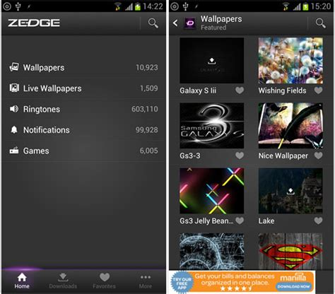 zedge app for android free app zedge free wallpapers ringtones and notifications