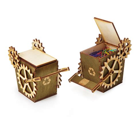 cool desk accessories for guys steampunk desktop recycler office recycling bin