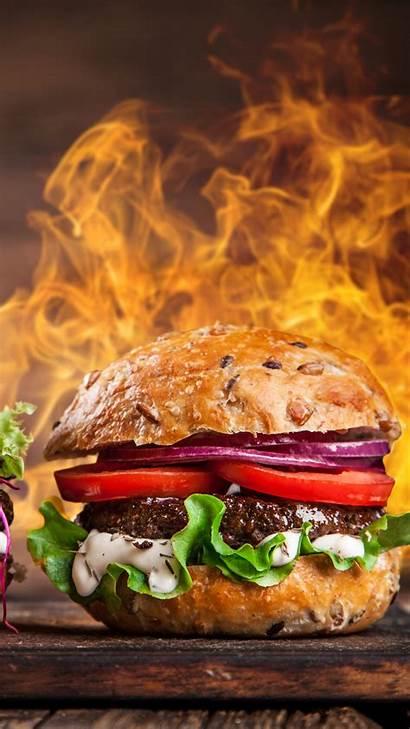 Burger Fire Steak 5k Grill 4k Wallpapers