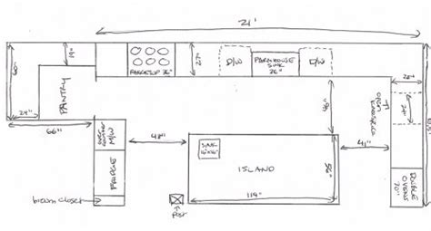 Restaurant Kitchen Measurements by Favorite 17 Awesome Images Kitchen Island Plans And