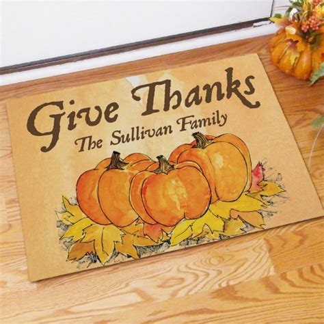 Thanksgiving Doormat by Custom Printed Thanksgiving Door Mat Personalized Fall