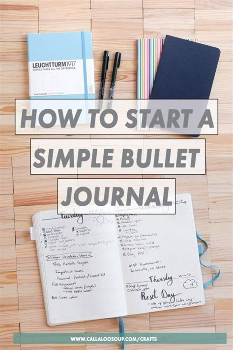 How To Start A Simple Bullet Journal  Scrap Booking