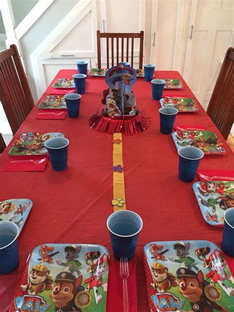 paw patrol table decorations party ideas pinterest