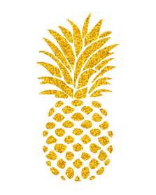 Free Printable Gold Pineapple