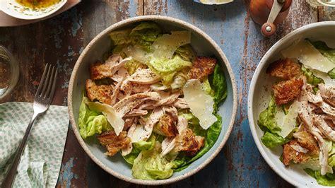 roast chicken salad  croutons  shallot dressing